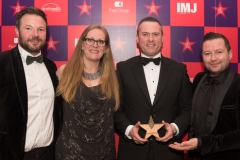 Best use of PR Winners - Mindshare L-R Peter Sweeney Gillian Jordad Ivan Hammond and Padraig Staunton